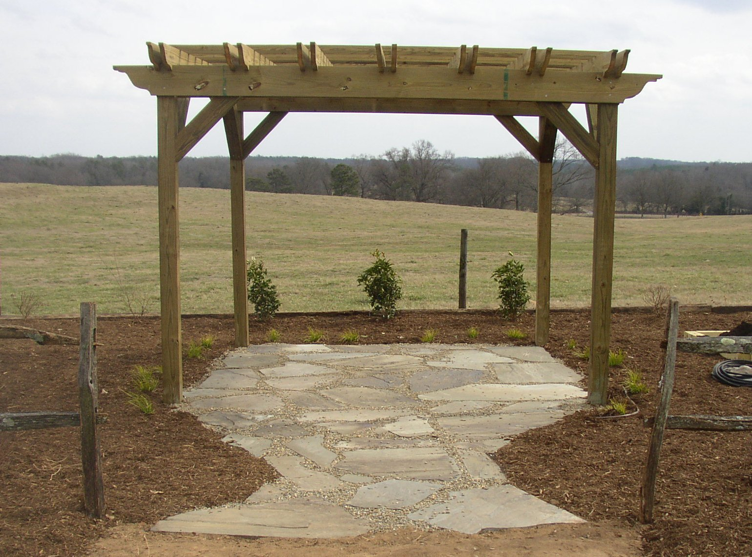 Arbor and Flagstone Patio