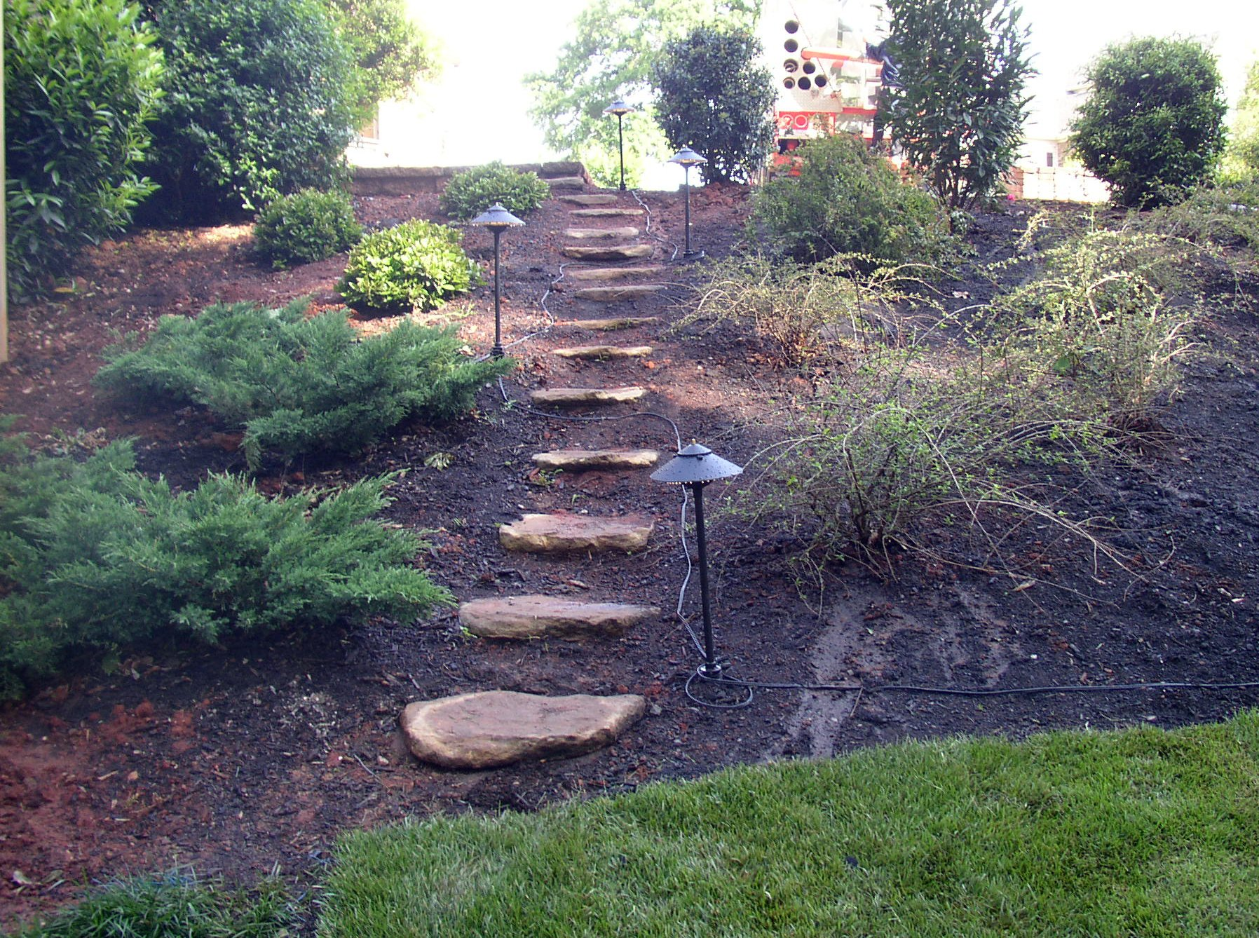 Outdoor Lighting for Stepper Path