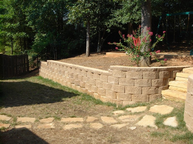 Retaining Wall and Walkway Greenville SC